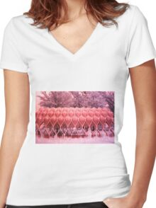Wood Pavilion Women's Fitted V-Neck T-Shirt
