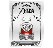 Zelda legend Red potion Poster