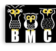 BMC owls in Black Canvas Print