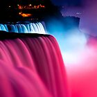 colorful waterfalls by Sam Scholes