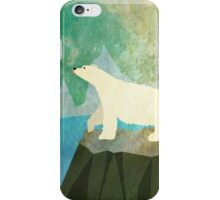 Playful Polar Bear in the Northern Lights iPhone Case/Skin