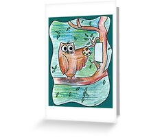 Artist Owl Greeting Card