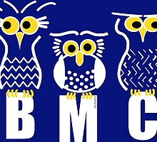 BMC Owls - Dark Blue by ArtWithDogBMC