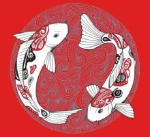 Fish carp koi blue Baby Tee