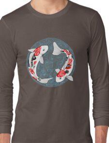 Fish carp koi blue Long Sleeve T-Shirt