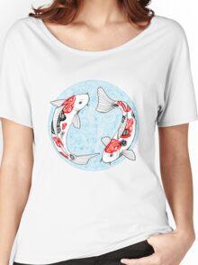 Fish carp koi blue Women's Relaxed Fit T-Shirt