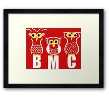 BMC Owls - Red Framed Print