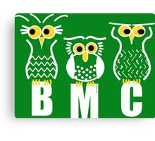BMC Owls - Green Canvas Print