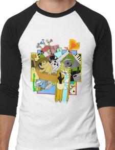 Drippy Shadeprint Men's Baseball ¾ T-Shirt