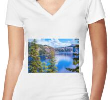 PEACE & TRANQUILITY Women's Fitted V-Neck T-Shirt