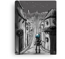 Uphill road Canvas Print
