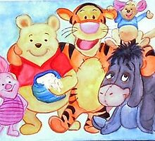 Winnie Pooh and friends by Heidi Mooney-Hill