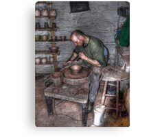 Potter At Work Canvas Print