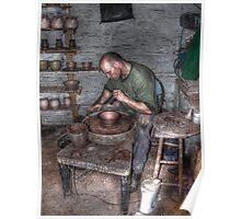 Potter At Work Poster