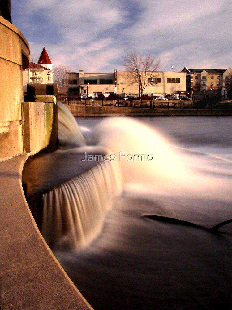 Dam on the Fox River in Waukesha, Wisconsin by James Formo