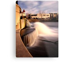 Dam on the Fox River in Waukesha, Wisconsin Metal Print