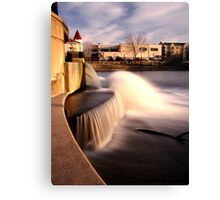 Dam on the Fox River in Waukesha, Wisconsin Canvas Print