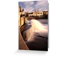 Dam on the Fox River in Waukesha, Wisconsin Greeting Card