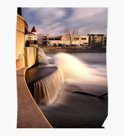 Dam on the Fox River in Waukesha, Wisconsin Poster
