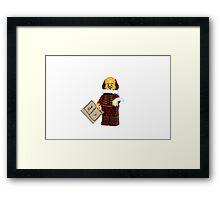 LEGO William Shakespeare Framed Print