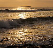 Sunrise over Inner Farne by Chas Bedford