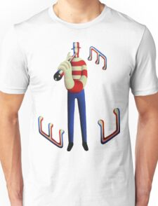 Tall musician with notes Unisex T-Shirt