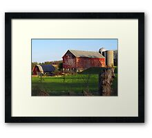 Barn along Rustic Road Framed Print