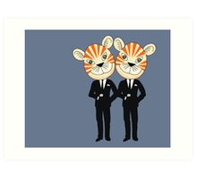 Tiger Twins are there for you Art Print