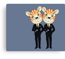 Tiger Twins are there for you Canvas Print