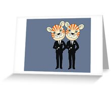 Tiger Twins are there for you Greeting Card