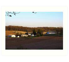 Waukesha County Farmland Art Print