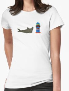 LEGO Diver & Shark Womens Fitted T-Shirt