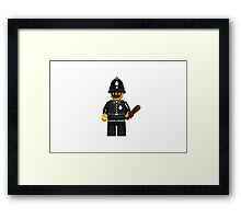 LEGO Police Constable Framed Print