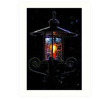 Old Fashioned Lantern -- Abstract Art Tee Art Print