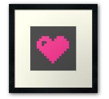 Pink Pixel Heart Framed Print