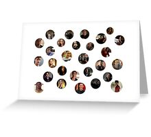 Teen Wolf Cast Bubbles Poster Greeting Card