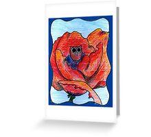 Georgia O'Keeffe Owl Greeting Card