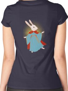 Saint Bunny has your back Women's Fitted Scoop T-Shirt