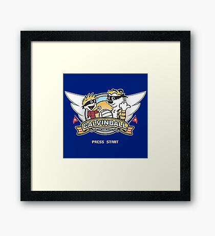 Game of Calvin and Hobbes Framed Print