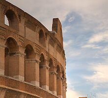 Colosseum in the historic Centre of Rome, Italy by Ian Middleton
