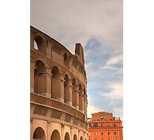 Colosseum in the historic Centre of Rome, Italy Photographic Print