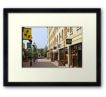 Downtown Waukesha Shops Framed Print