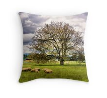 Grazing on Willamette Drive Throw Pillow