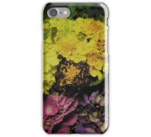 stained glass flowers iPhone Case/Skin
