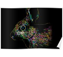 The Neon Rabbit - Abstract Animal Art Poster