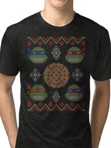 Christmas Pizza Tri-blend T-Shirt