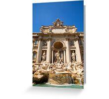 Fontana di Trevi, Rome, Italy. Greeting Card