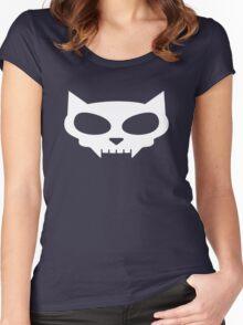 Cat Skull Women's Fitted Scoop T-Shirt