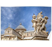 Campo di Miracoli field of Miracles, Pisa, Tuscany Poster