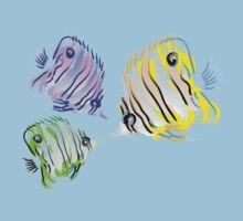 3 Fish One Piece - Short Sleeve